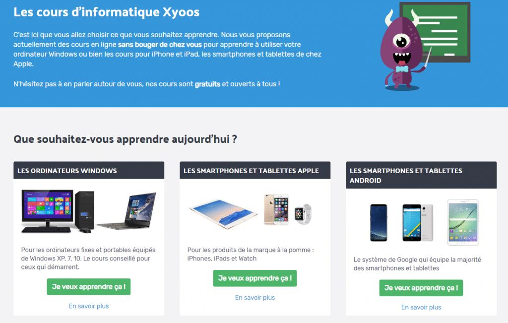 Xyoos, des cours informatiques gratuits avec Stéphanie Dumas, formatrice informatique indépendante à saint jean de monts en vendée dans les pays de la loire