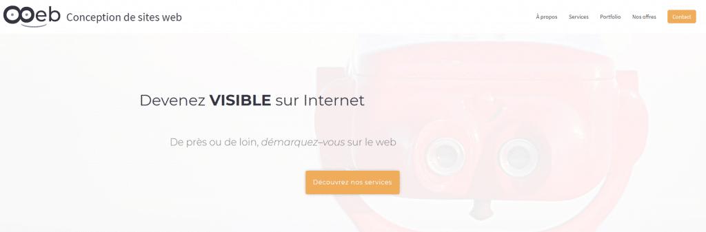 Page d'accueil du site Ooeb avec Stéphanie Dumas, formatrice informatique indépendante à saint jean de monts en vendée dans les pays de la loire